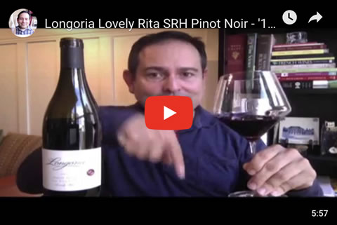 Longoria Lovely Rita SRH Pinot Noir - '12 93 Points - Episode #1687 - James Melendez
